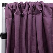 Royal Slub Drape Panel - 100% Polyester - Cabernet