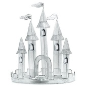 Silver Wire Castle Centerpiece (set of 2)