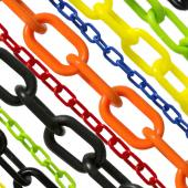 "1.5"" Plastic Chain for Stanchions - 500 FT - Choice of Colors"