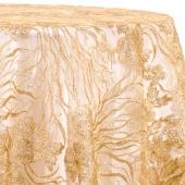 Champagne - Blooming Sequin Overlay by Eastern Mills- Many Size Options