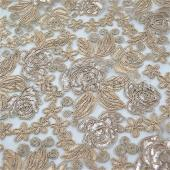 Champagne - Sweetheart Lace Overlay by Eastern Mills - Many Size Options