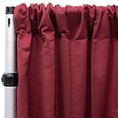 Royal Slub Drape Panel - 100% Polyester - Chestnut