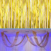 Citron - Metallic Fringe Ceiling Curtain - Choose your Length