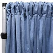 Royal Slub Drape Panel - 100% Polyester - Cloud