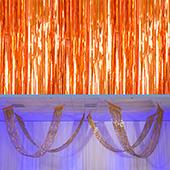 Copper - Metallic Fringe Ceiling Curtain - Choose your Length