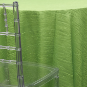 LIME - *FR* Crushed Taffeta Tablecloth by Eastern Mills - Many Size Options