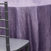 LILAC - *FR* Crushed Taffeta Tablecloth by Eastern Mills - Many Size Options