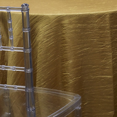 DARK GOLD - *FR* Crushed Taffeta Tablecloth by Eastern Mills - Many Size Otions