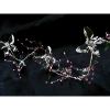3ft Crystal Acrylic Butterfly Garland With Pink Beads