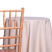 Beige - Designer Avila Heavy Linen Broad Tablecloth by Eastern Mills - Many Size Options