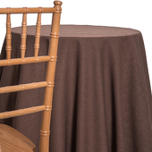 Brown - Designer Avila Heavy Linen Broad Tablecloth by Eastern Mills - Many Size Options