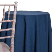 Cobalt - Designer Heavy Avila Linen Broad Tablecloth by Eastern Mills - Many Size Options
