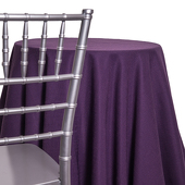 Plum - Designer Heavy Avila Linen Broad Tablecloth by Eastern Mills- Many Size Options
