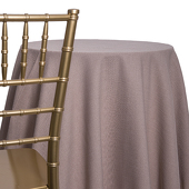 Taupe - Designer Heavy Avila Linen Broad Tablecloth by Eastern Mills - Many Size Options