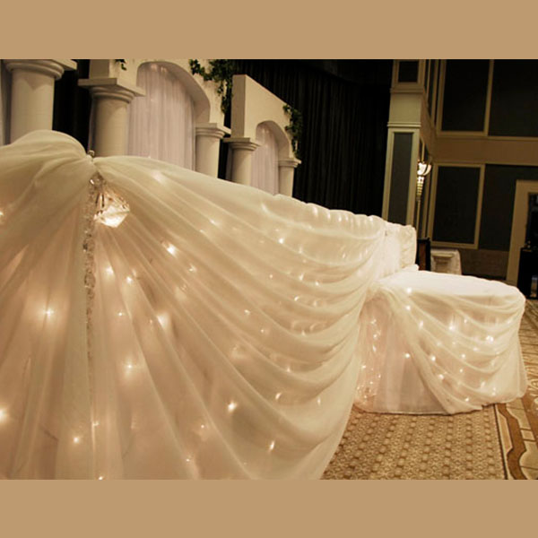 Fairy Light Head Table Decoration Kit 24 Foot 12 Person