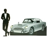 Dapper Dude and Classic Car Silhouettes