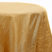 Gold - Crushed Tergalet Tablecloth by Eastern Mills - Many Size Options