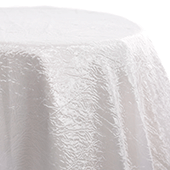 White - Crushed Tergalet Tablecloth by Eastern Mills - Many Size Options