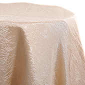 Champagne - *FR* Crushed Tergalet Tablecloth by Eastern Mills - Many Size Options