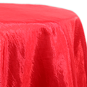 Red - Crushed Tergalet Tablecloth by Eastern Mills - Many Size Options