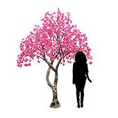 10FT Tall Large Fake Drooping Cherry Blossom Tree - 20 Interchangeable Branches - Pink