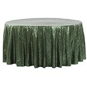 "120"" Round Sequin Tablecloth - Willow Green"