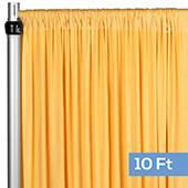 4-Way Stretch Spandex Drape Panel - 10ft Long - Canary Yellow