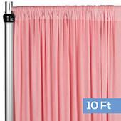 4-Way Stretch Spandex Drape Panel - 10ft Long - Dusty Rose/Mauve
