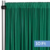 4-Way Stretch Spandex Drape Panel - 10ft Long - Emerald Green