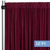 4-Way Stretch Spandex Drape Panel - 12ft Long - Burgundy