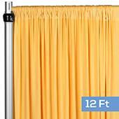 4-Way Stretch Spandex Drape Panel - 12ft Long - Canary Yellow