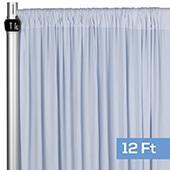 4-Way Stretch Spandex Drape Panel - 12ft Long - Dusty Blue