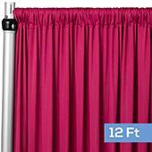 4-Way Stretch Spandex Drape Panel - 12ft Long - Fuchsia