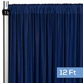 4-Way Stretch Spandex Drape Panel - 12ft Long - Navy Blue
