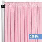 4-Way Stretch Spandex Drape Panel - 12ft Long - Pink