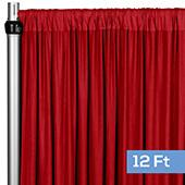 4-Way Stretch Spandex Drape Panel - 12ft Long - Red