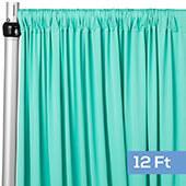 4-Way Stretch Spandex Drape Panel - 12ft Long - Turquoise