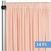 4-Way Stretch Spandex Drape Panel - 14ft Long - Blush/Rose Gold