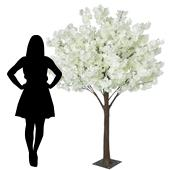 6FT Hydrangea Bloom Tree - Floor or Grand Centerpiece - 10 Interchangeable Branches - White w/ Leaves