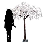 6FT Tall Drooping Wisteria Bloom Tabletop Centerpieces Tree - 9 Interchangeable Branches - White