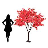 7FT Bougainvillea Tree - Floor or Centerpiece - 11 Interchangeable Branches - Fuchsia