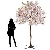 9FT Tall Large Fake Hydrangea Bloom Tree  - Pink w/ Leaves