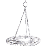 Small 2-Ring Round Chandelier Frame - White Finish