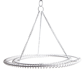 Large 2-Ring Round Chandelier Frame - White Finish