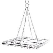 Medium 2-Ring Square Chandelier Frame - White Finish