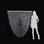 DecoStar™ Jewel Crystal Iridescent Diamond Cut Swag Curtain - 6ft Wide by 6ft Tall