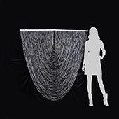 DecoStar™ Jewel Crystal Iridescent Diamond Cut Swag Curtain - 4ft wide by 4ft Tall