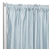 "Accordion Crushed Taffeta - 10ft Long x 54"" Wide Drape/Backdrop Panel - Baby Blue"