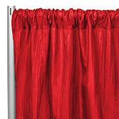 "Accordion Crushed Taffeta - 10ft Long x 54"" Wide Drape/Backdrop Panel - Red"
