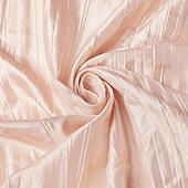 "Accordion Crushed Taffeta - 10 Yard Bolt x 54"" Wide - Blush/Rose Gold"